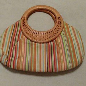Weave handle purse